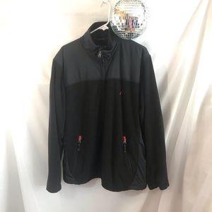 Men's Nautica Fleece & Nylon Zip Up Jacket